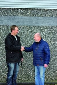 Niels Jørgen Dahl Pedersen(th) benytter sammenlægningen til at drosle ned. Ny direktør for de to virksomheder bliver Niels Rüsz(tv) der har drevet NR Kloak siden 2011. Det nye fælles navn bliver NR Kloak & Beton.
